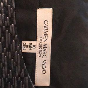 Carmen Marco Volvo Silver Black Dress Size 10